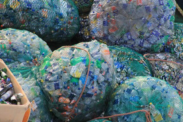 PET plastic bottles garbage