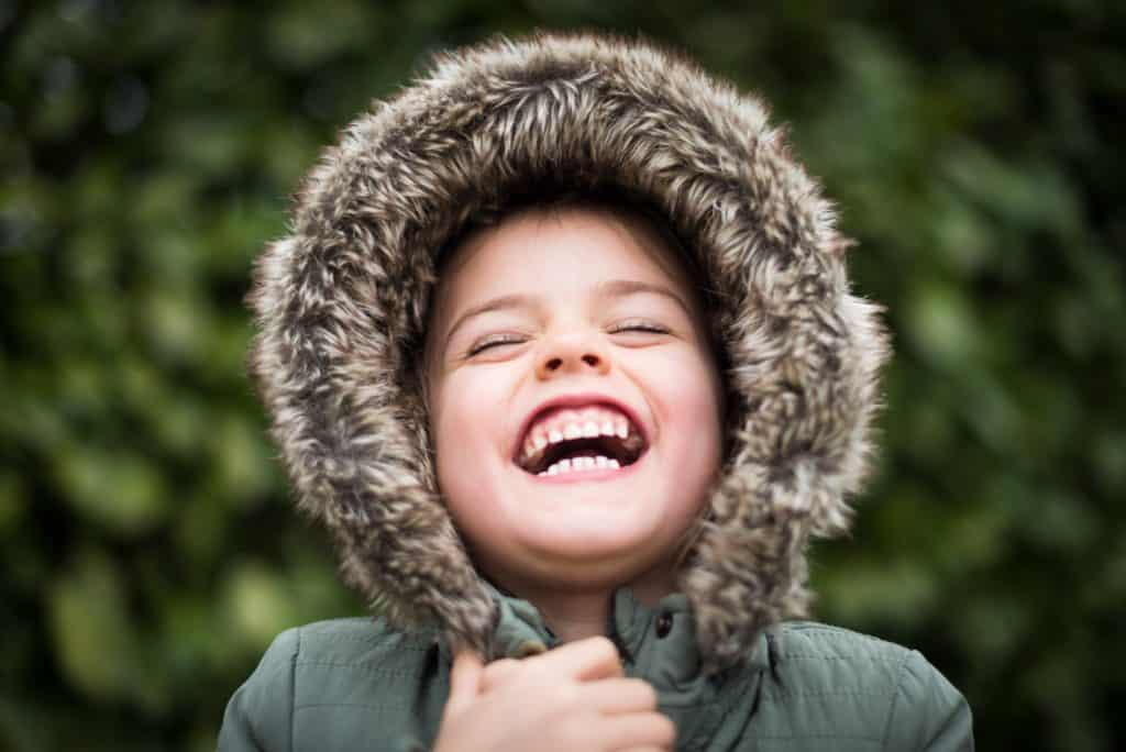 child laughing teeth