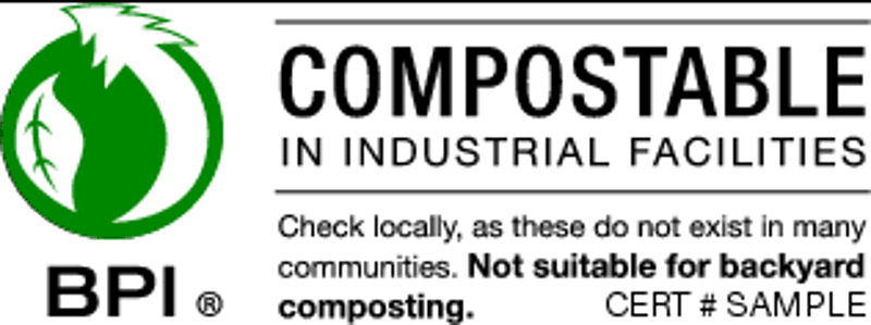 BPI certified compostable logo
