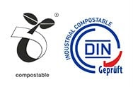 DIN Geprueft and seedling compostable certificate