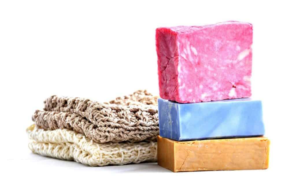 barras de jabón hechas a mano