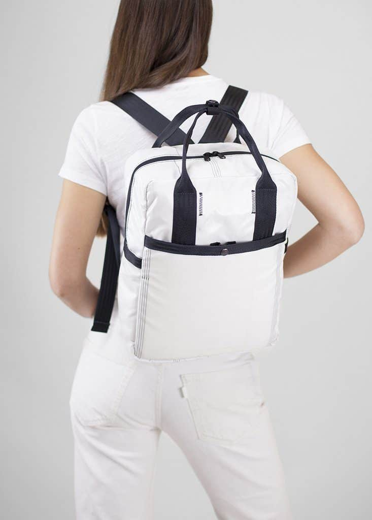 rewilder white backpack airbags