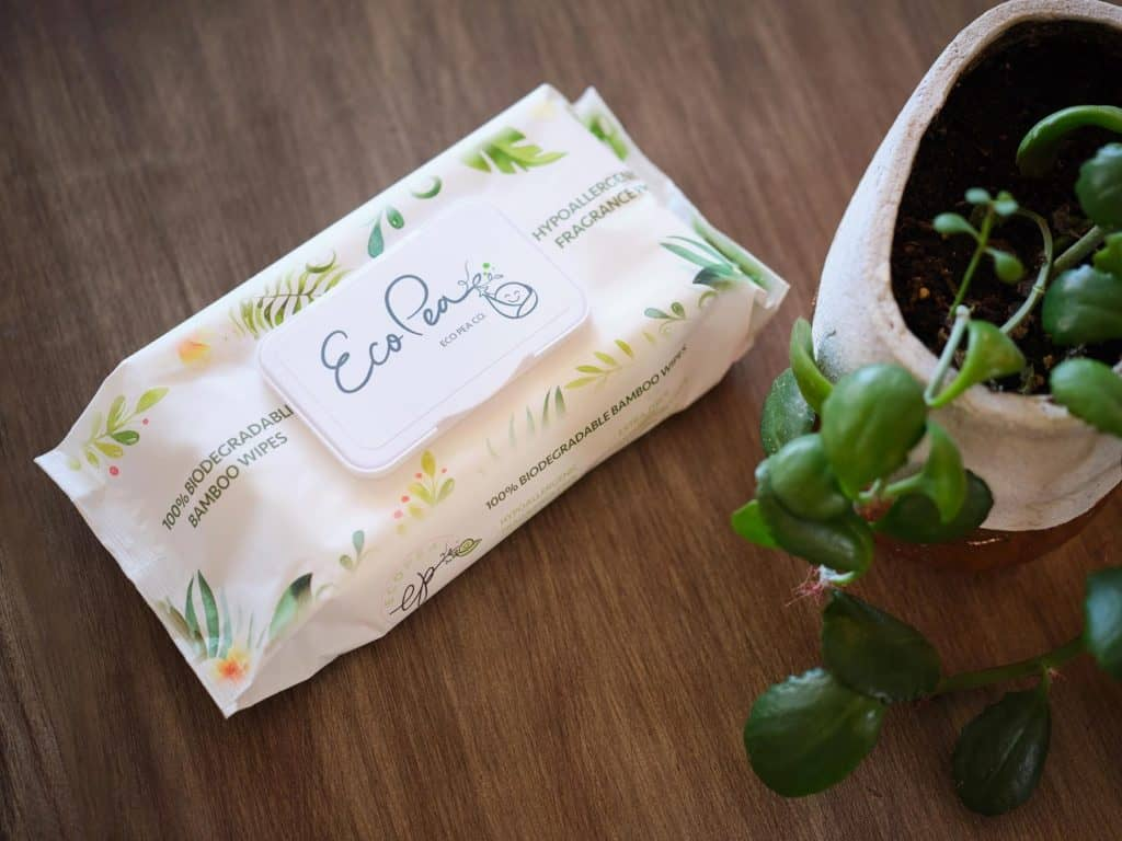 eco pea co bamboo wet wipes