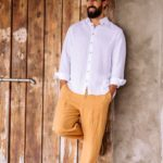 sustainable linen jogger pants